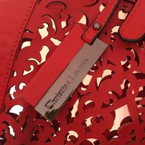 Christian Lacroix Bags - Christian Lacroix red laser-cut leather tote